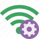 green, settings, connection, internet, wifi, wireless
