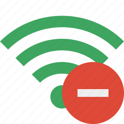 connection, green, internet, stop, wifi, wireless icon