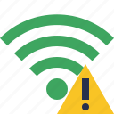 green, warning, connection, internet, wifi, wireless