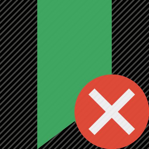 book, bookmark, cancel, favorite, green, tag icon