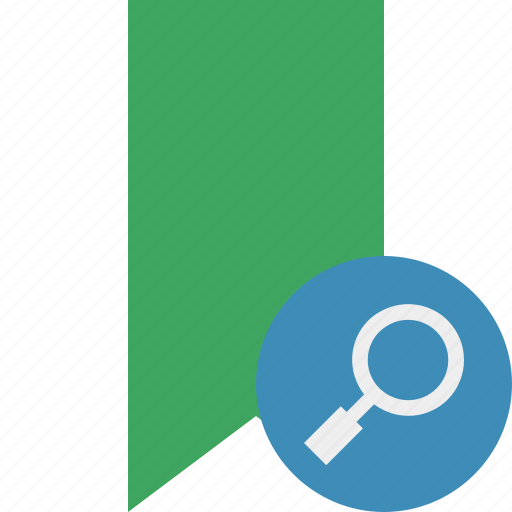 book, bookmark, favorite, green, search, tag icon