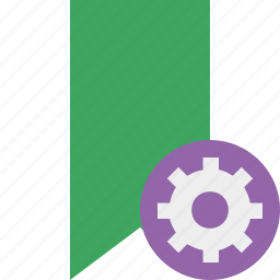 book, bookmark, favorite, green, settings, tag icon