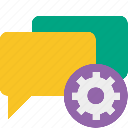 bubble, chat, communication, message, settings, talk icon