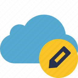 blue, cloud, edit, network, storage, weather icon
