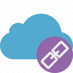 blue, cloud, link, network, storage, weather icon