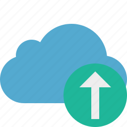 blue, cloud, network, storage, upload, weather icon