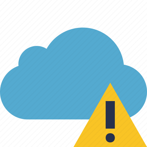 blue, cloud, network, storage, warning, weather icon