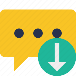 bubble, chat, comment, download, message, talk icon
