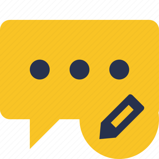 bubble, chat, comment, edit, message, talk icon
