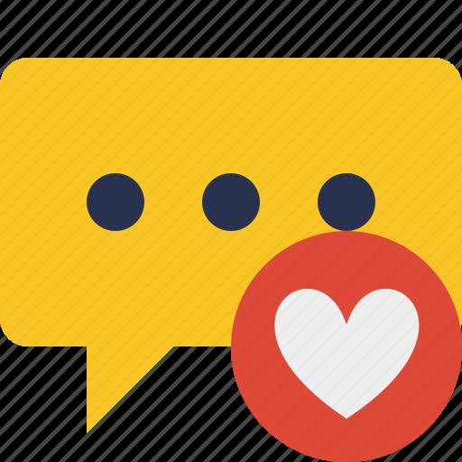 bubble, chat, comment, favorites, message, talk icon