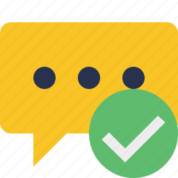 bubble, chat, comment, message, ok, talk icon
