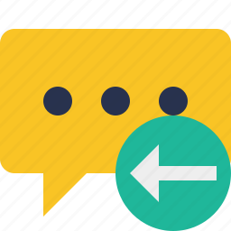 bubble, chat, comment, message, previous, talk icon