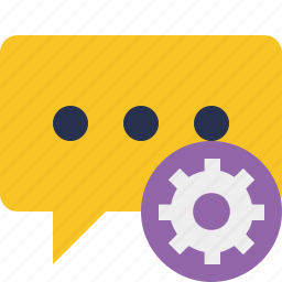 bubble, chat, comment, message, settings, talk icon