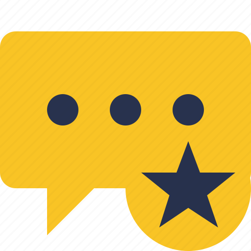 bubble, chat, comment, message, star, talk icon