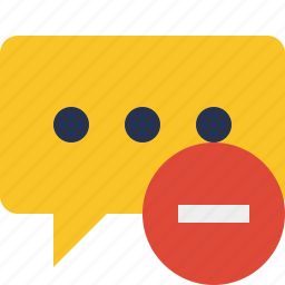 bubble, chat, comment, message, stop, talk icon