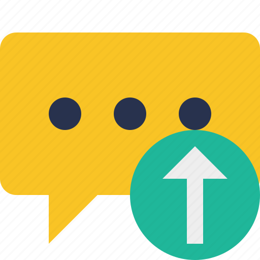 bubble, chat, comment, message, talk, upload icon