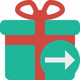 box, christmas, gift, next, present, xmas icon