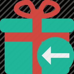 box, christmas, gift, present, previous, xmas icon