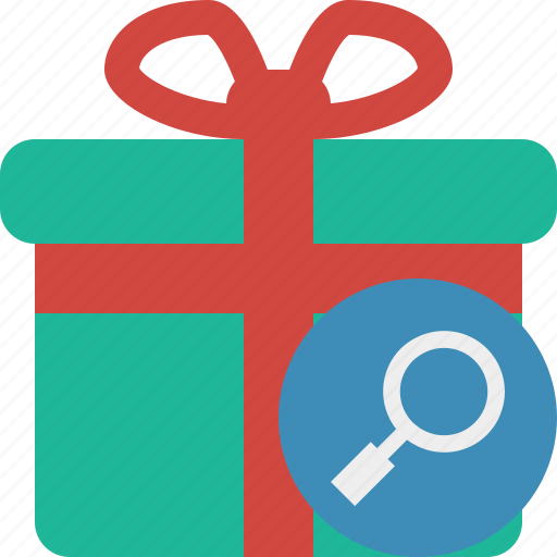 Box, christmas, gift, present, search, xmas icon - Download on Iconfinder