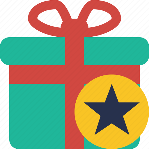 box, christmas, gift, present, star, xmas icon