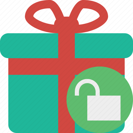 Box, christmas, gift, present, unlock, xmas icon - Download on Iconfinder