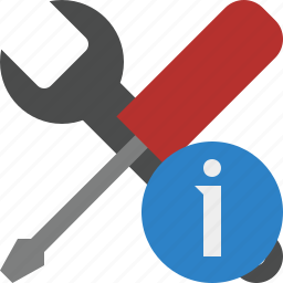 information, options, preferences, settings, tools icon