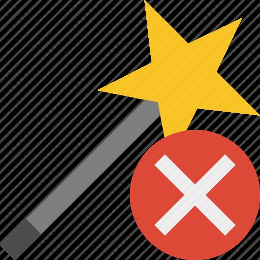 cancel, magic, tool, wand, wizard icon