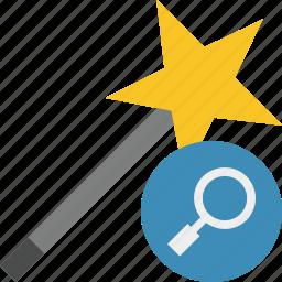 magic, search, tool, wand, wizard icon