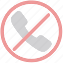 cancel call, communication, failed call, no call, stop call icon