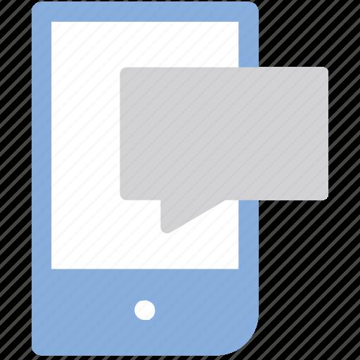 bubble, chat, comment, message, mobile, sms icon