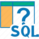 query, sql, about, question, help, mark