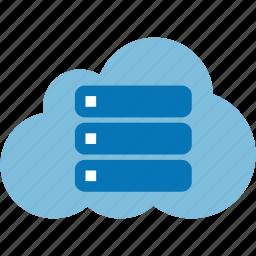 cloud, data, database, dbase, drive, server, storage icon