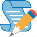 edit, pen, pencil, script, write, writing icon