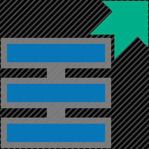 database, exernal, procedure, storage icon