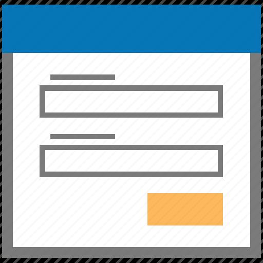 dialog, field, fields, form, popup, window icon