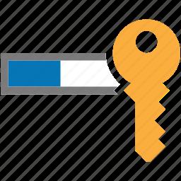 field, filed, key, log in, login, password icon