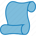 document, macros, paper, roll, script, scroll, writing icon