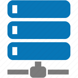 connection, data, databank, database, network, node, server icon