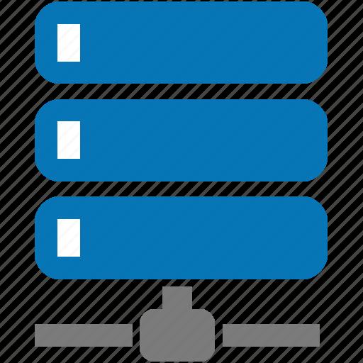 connection, data, databank, database, network, node, server icon