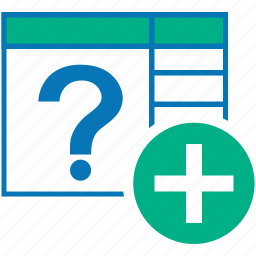 add, create, new, plus, query, table icon
