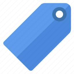 blue, etiquette, label, shopping, tag, ticket icon