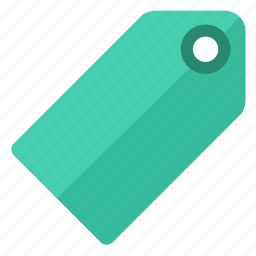 etiquette, green, label, tag, ticket icon