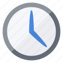 blue, clock, schedule, time, timer, wait, watch icon