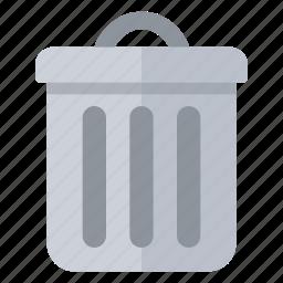 bin, close, dustbin, empty, garbage, recycle, trash icon