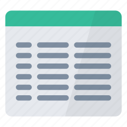 characteristics, data, details, file, text, view icon
