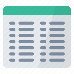 characteristics, display, documents, files, list, view icon