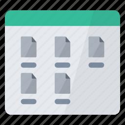 configuration, display, medium, screen, view icon