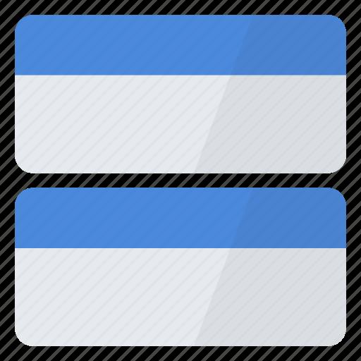 arrange, horizontal, split, two, window, windows icon