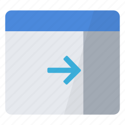 configuration, extend, panel, right, window icon