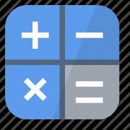 calculator, calculus, device, electronics, machine, math, operations icon